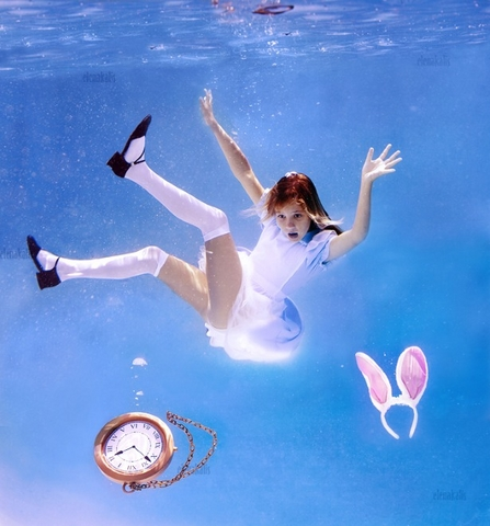 Down the rabbit role, Alice in waterland, Elena Kalis